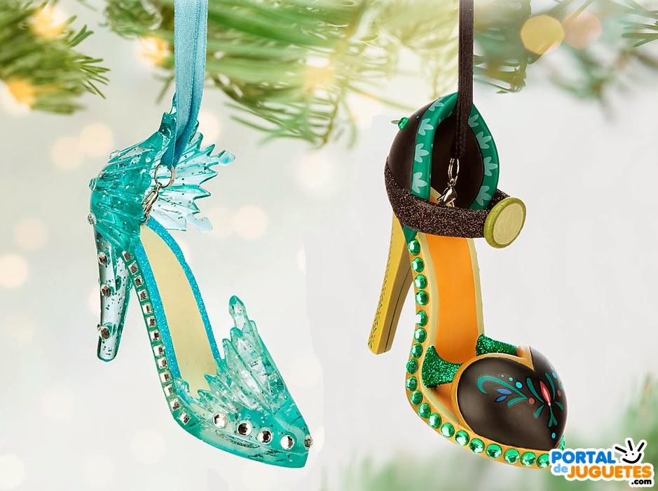adornos navidad zapatos elsa anna frozen disney store