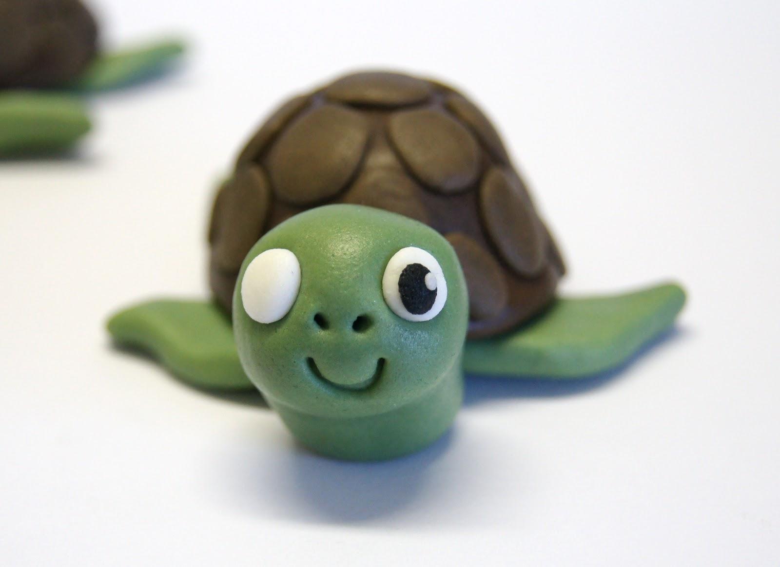 Поделки с пластилина черепахи