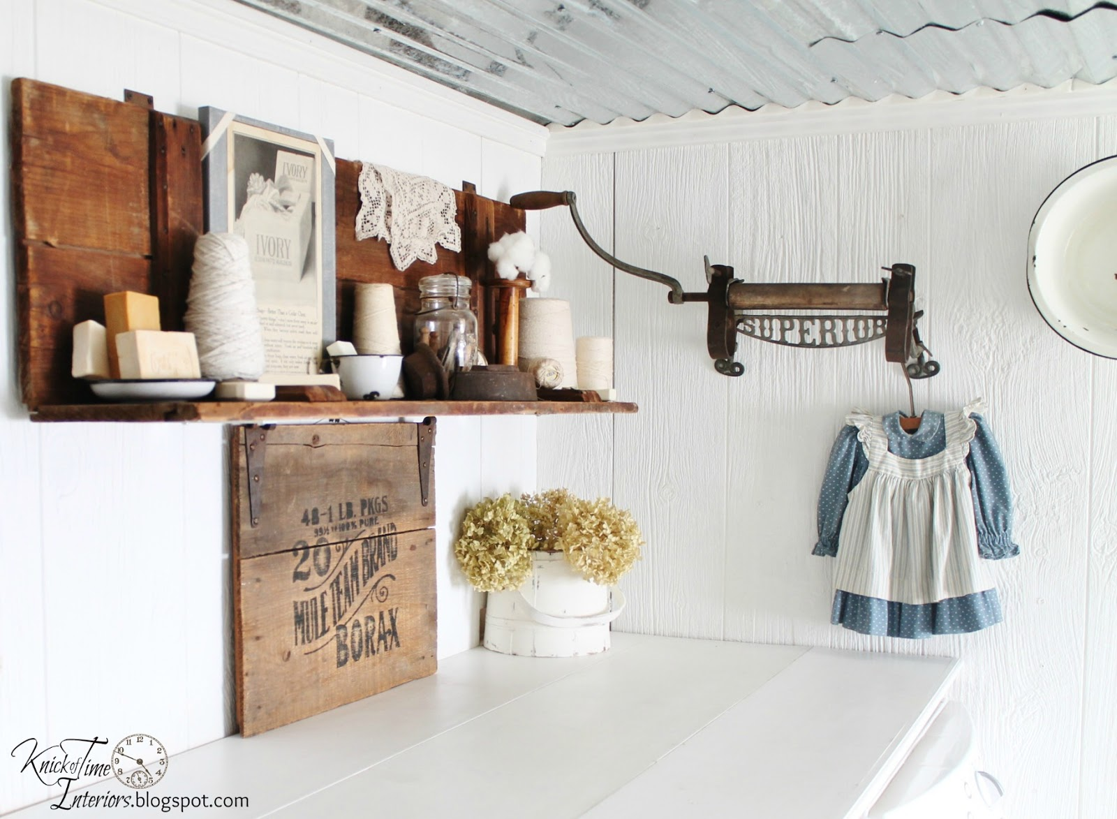Vintage Laundry Room Pictures Laundry Room Reveal  Knick Of Time