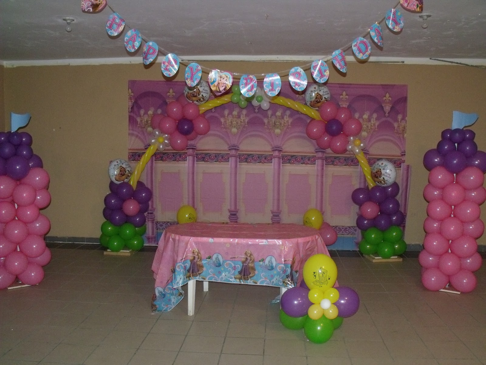 B Day Party Decoration Ideas Of Party Angel Creations Tangled B Day Decorations