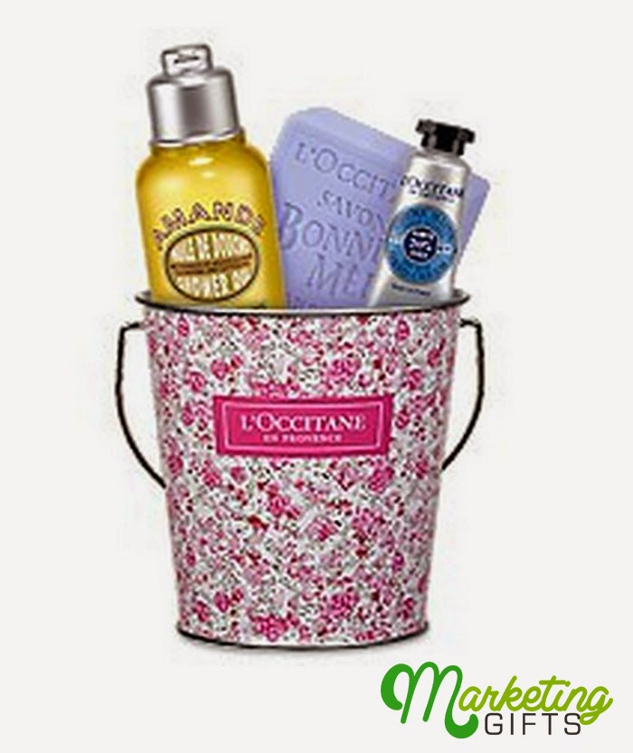 Marketing gifts loccitane spring bucket promotion why use customized bucket as marketing gift negle