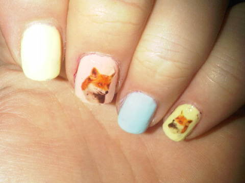 fox nail stickers