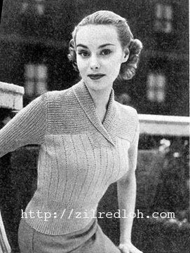 1950's Knitting pattern for a women's Spring Jumper