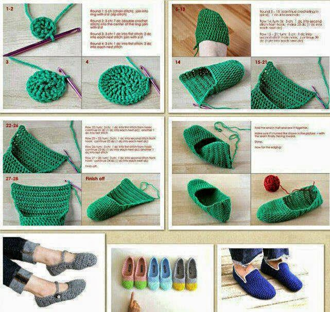 Zapatos tejidos al crochet