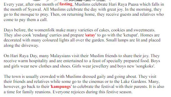 essay about hari raya celebration