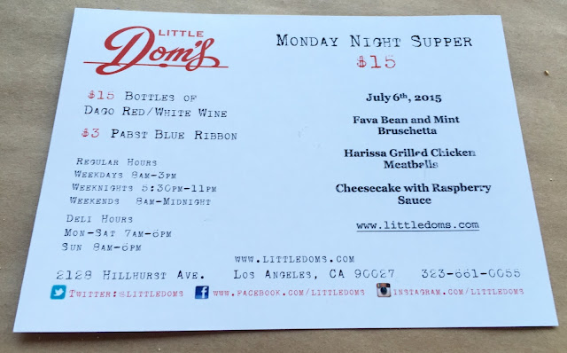 Little Dom's Monday Supper, Little Dom's Monday SUpper Review