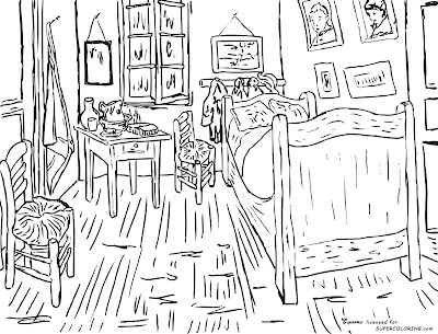 Vincent Van Gogh Bedroom Coloring Pages