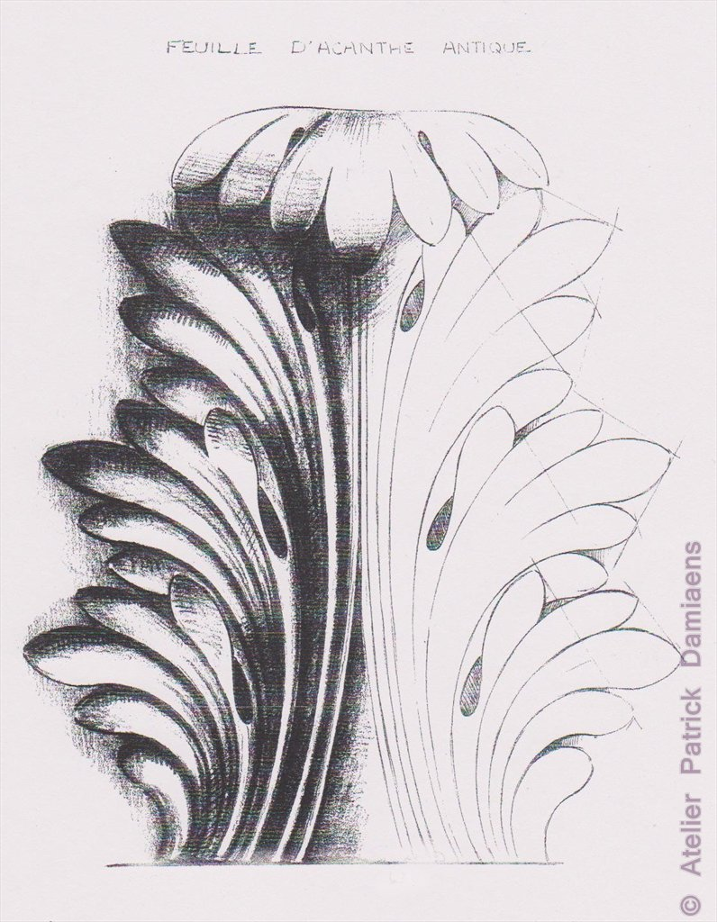 Alexis peyrotte 39 shell cartouches and acanthus leaf motif for Acanthus leaf decoration