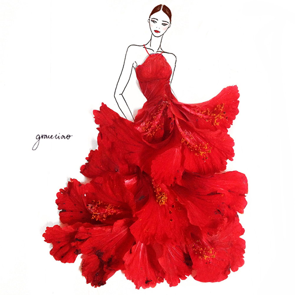 20-Red-Hibiscus-Nature-and-Grace-Ciao-Design-and-Draw-Dresses-with-Petals-www-designstack-co