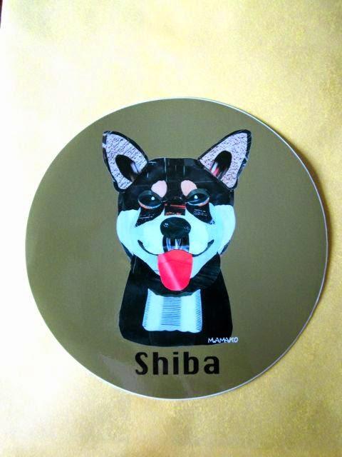 犬種名ステッカー〈柴犬/黒〉