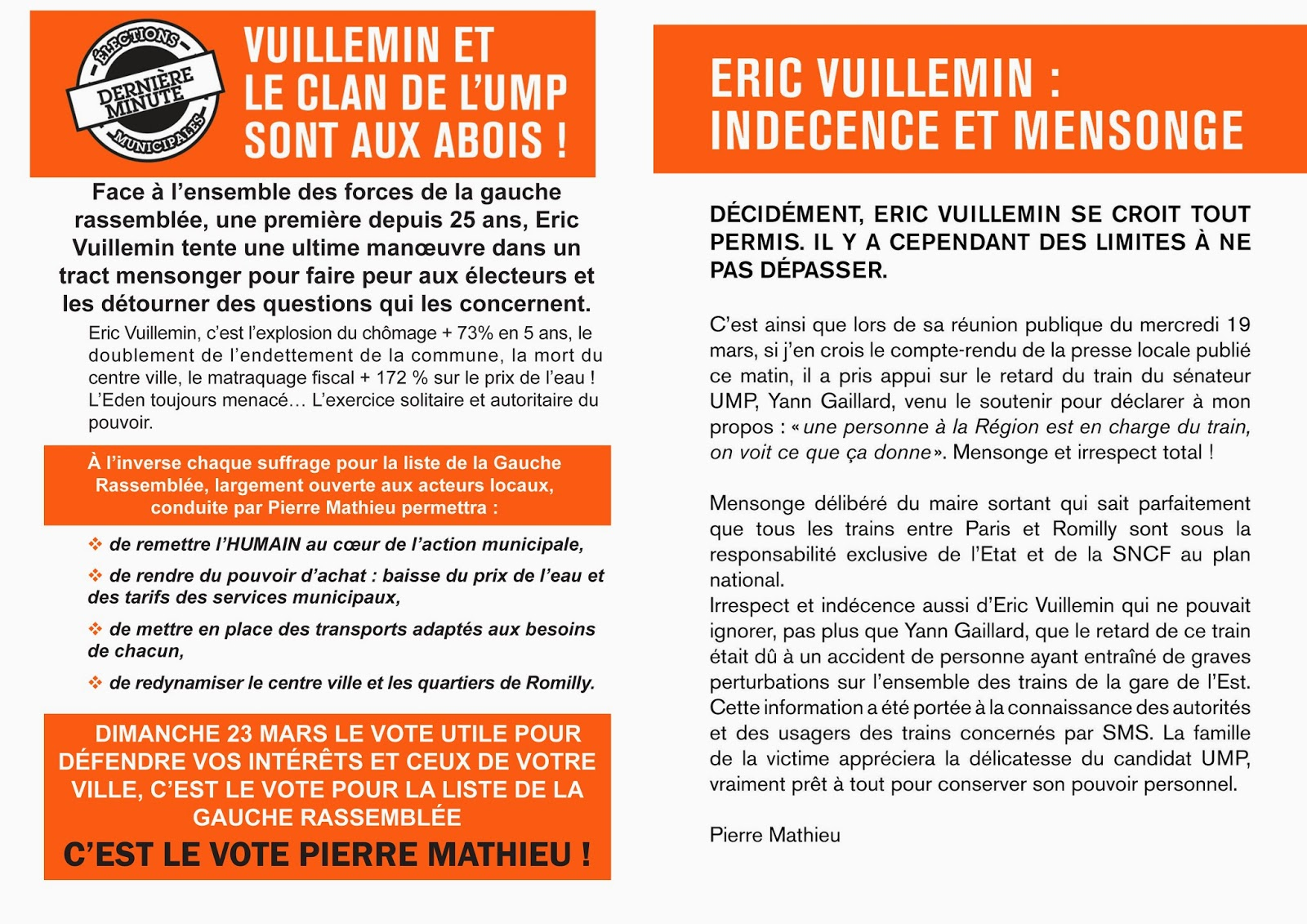 Romilly pour tous mars 2014 for Action romilly