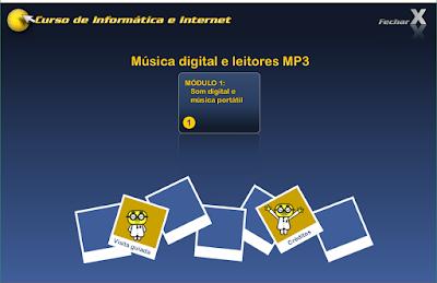 CURSO DE INFORMÁTICA E INTERNET - MÚSICA DIGITAL E LEITORES MP3
