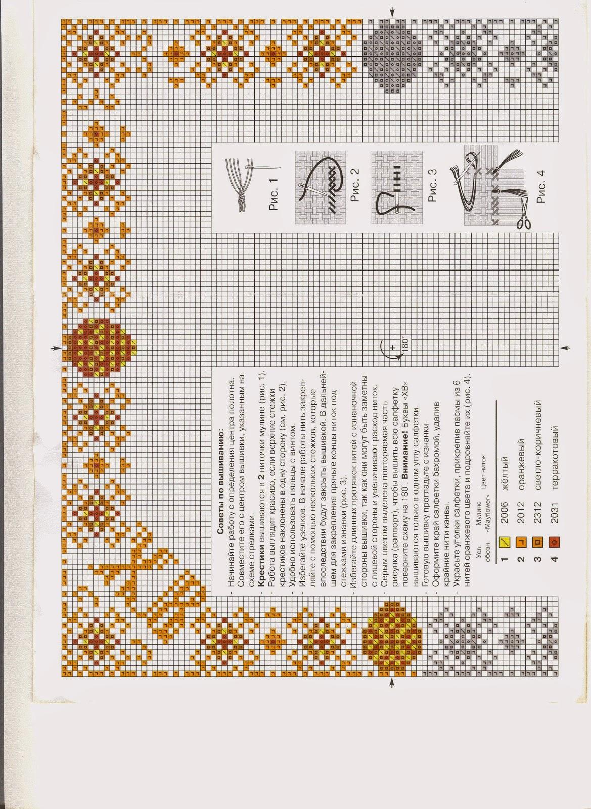 Пасхальная салфетка схема вышивки 65