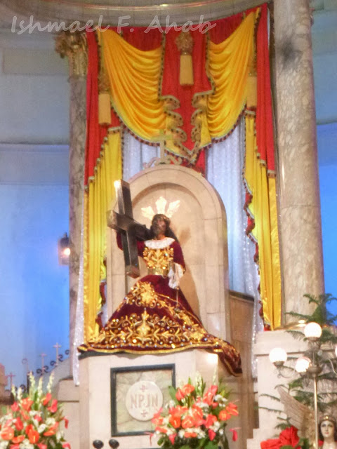 Image of the Black Nazarene at the altar of Quiapo Church