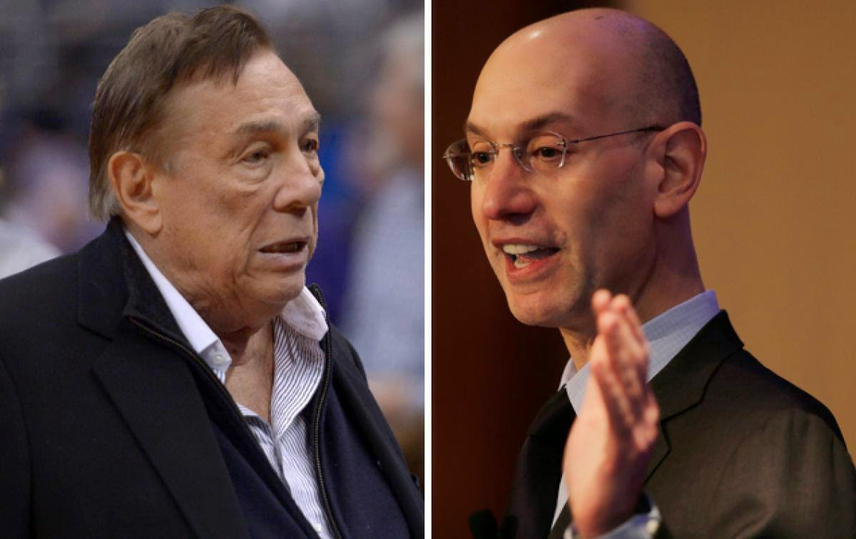 LA Clippers Owner Donald Sterling and NBA Commissioner Adam Silver Together