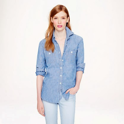 Jcrew Chambray top