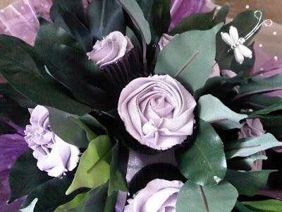 cupcake floral arrangement