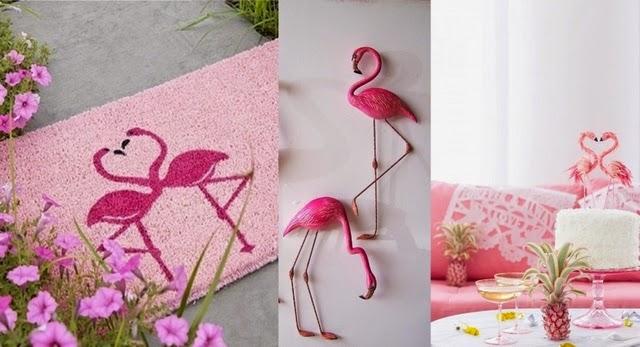 Flamencos rosa decoración