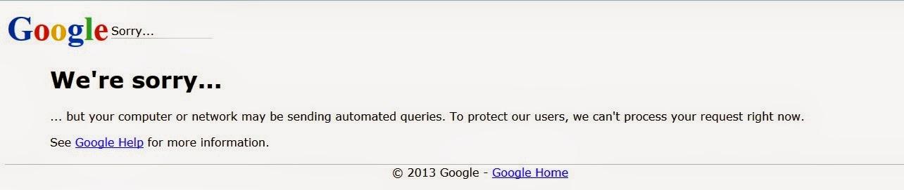 Cara Mudah Mengatasi Google We're sorry dan Peneyebabnya