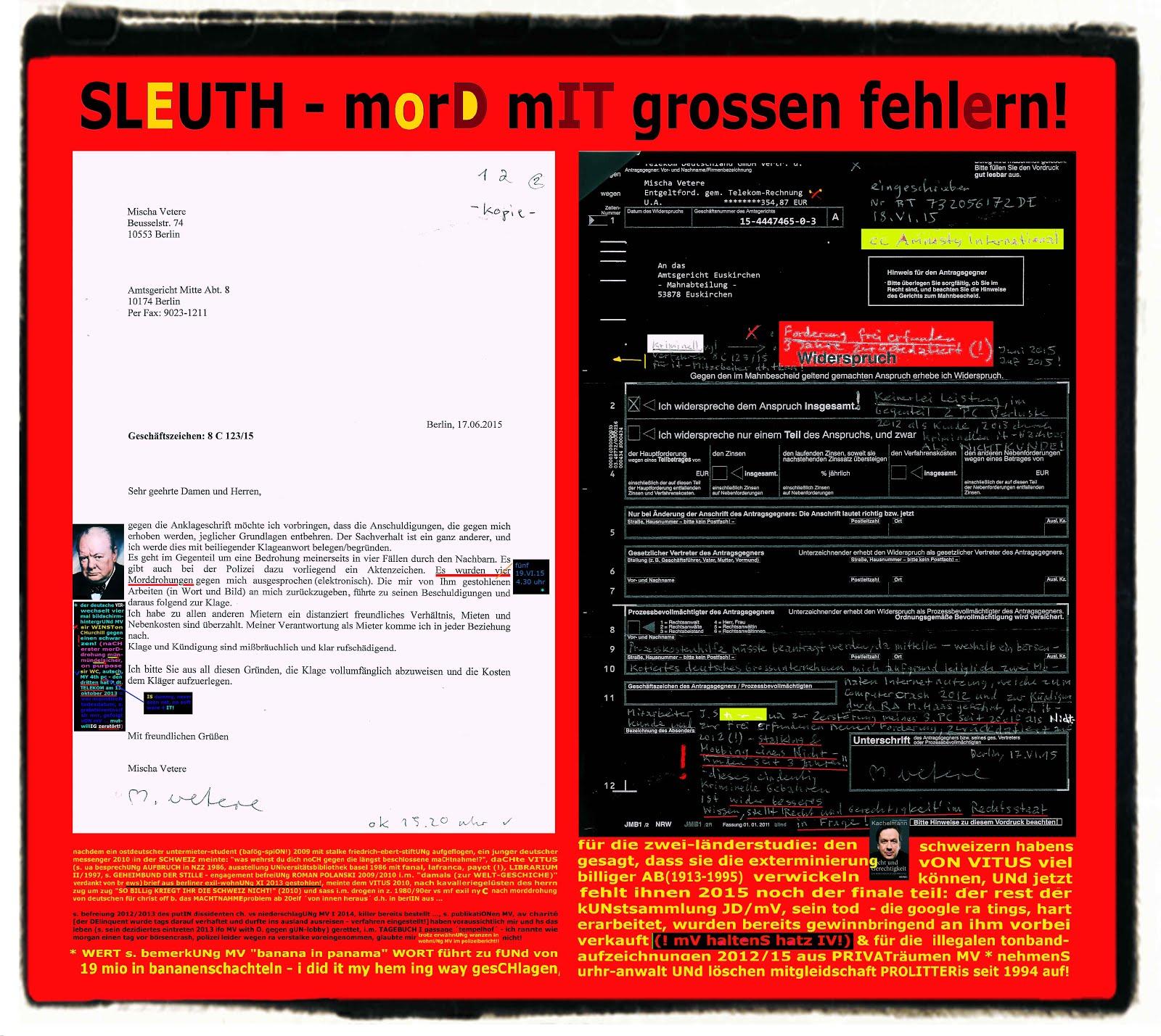 detusche telekom stalking mobbing stealing murdering genocide swiss aunt ex-client  it vandalism