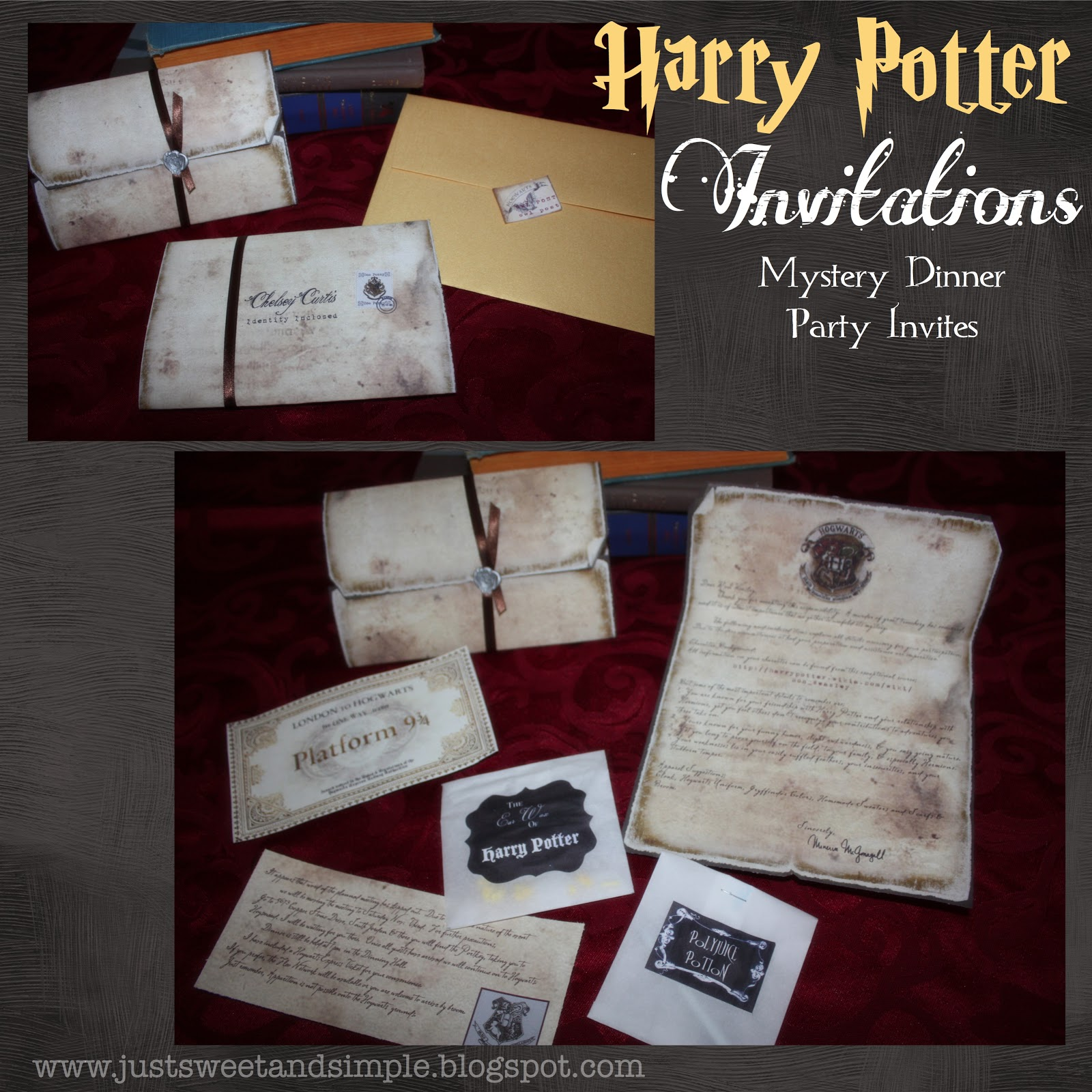 just Sweet and Simple: Harry Potter Mystery Dinner Party