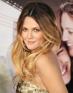 Drew Barrymore with ombre hair highlights at the movie premier for Big Miracle
