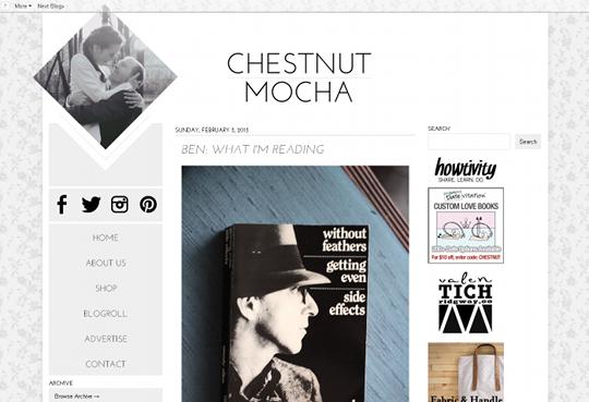 chestnut mocha new blog design