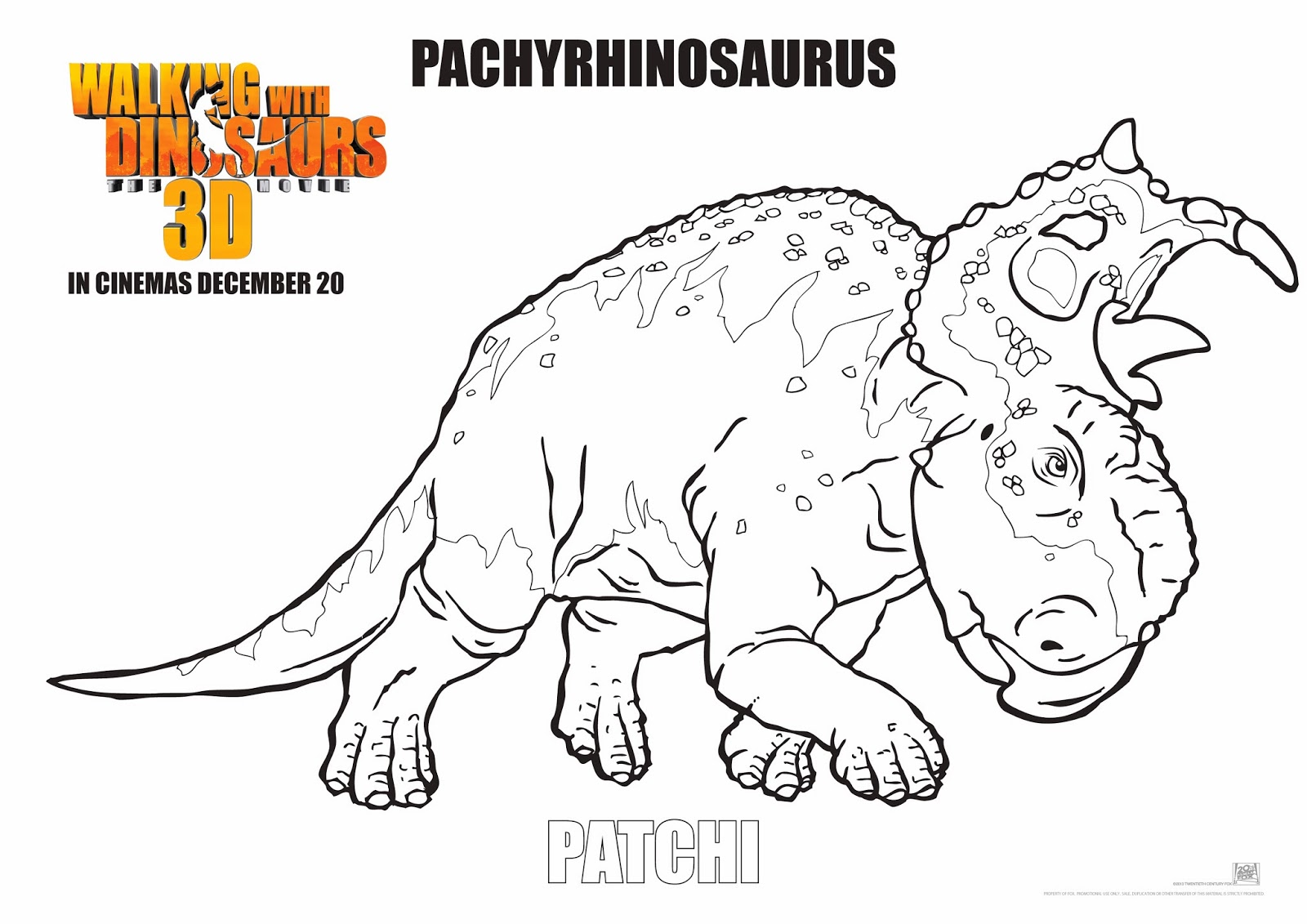 Walking With Dinosaurs Free Colouring Pages