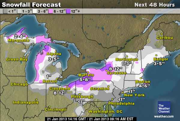 projected snowfall While snowfall is expected to grind traffic and air travel to a halt on thursday, the  bigger problem is the freezing temperatures set to descend on.