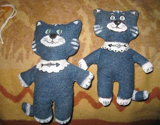 Игрушки своими руками из джинсовой ткани