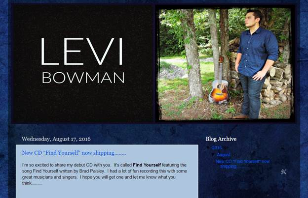 Levi Bowman's Website