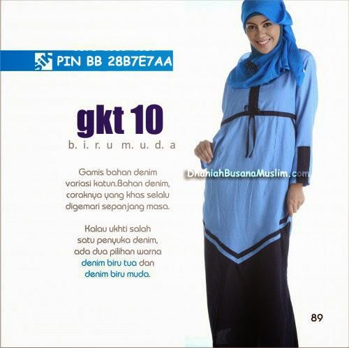 Gamis Sik Clothing GKT 10 Biru