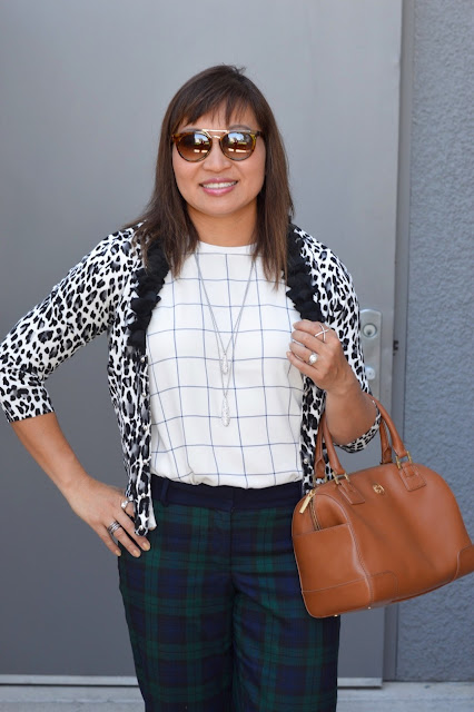Over 40 fashion, OC Blogger, leopard and plaid