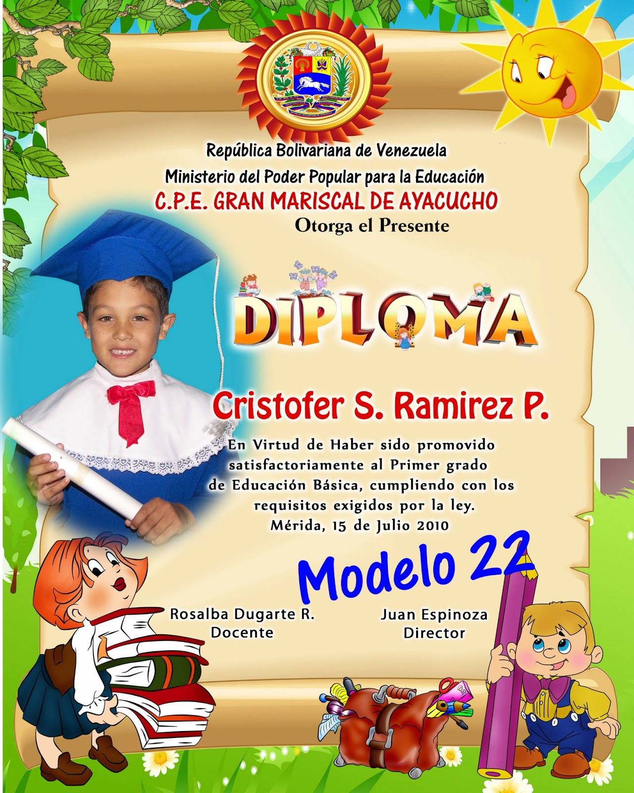 Diplomas de preescolar para editar gratis | Imagenes para imprimir