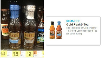 $.35/1 Gold Peak Tea Coupon = $.93 at Walmart!