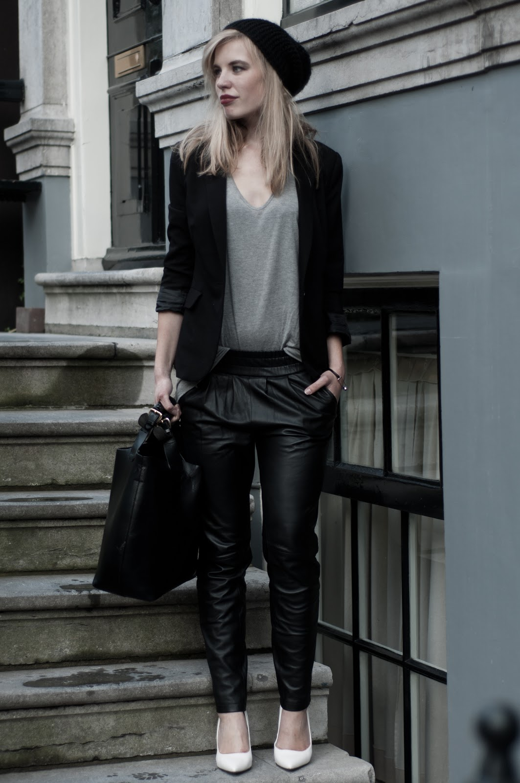 OUTFIT / BAGGY LEATHER PANTS | RED REIDING HOODRED REIDING ...