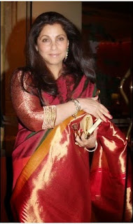 Dimple Kapadia looks beautiful in saree