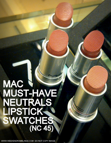 Best Must-Have MAC Makeup Neutral Nude Everyday Lipsticks for NC45 Darker Indian Skin Tone