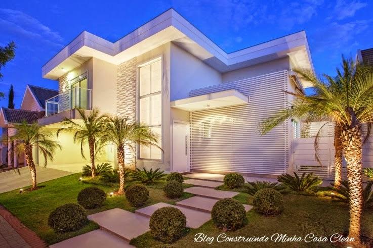Construindo Minha Casa Clean 25 Fachadas De Casas Com