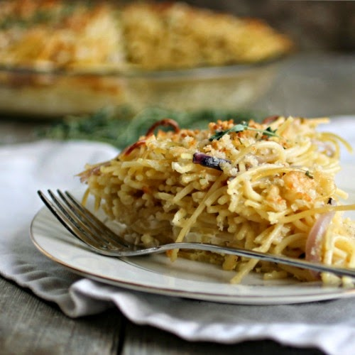 French Onion Spaghetti Pie