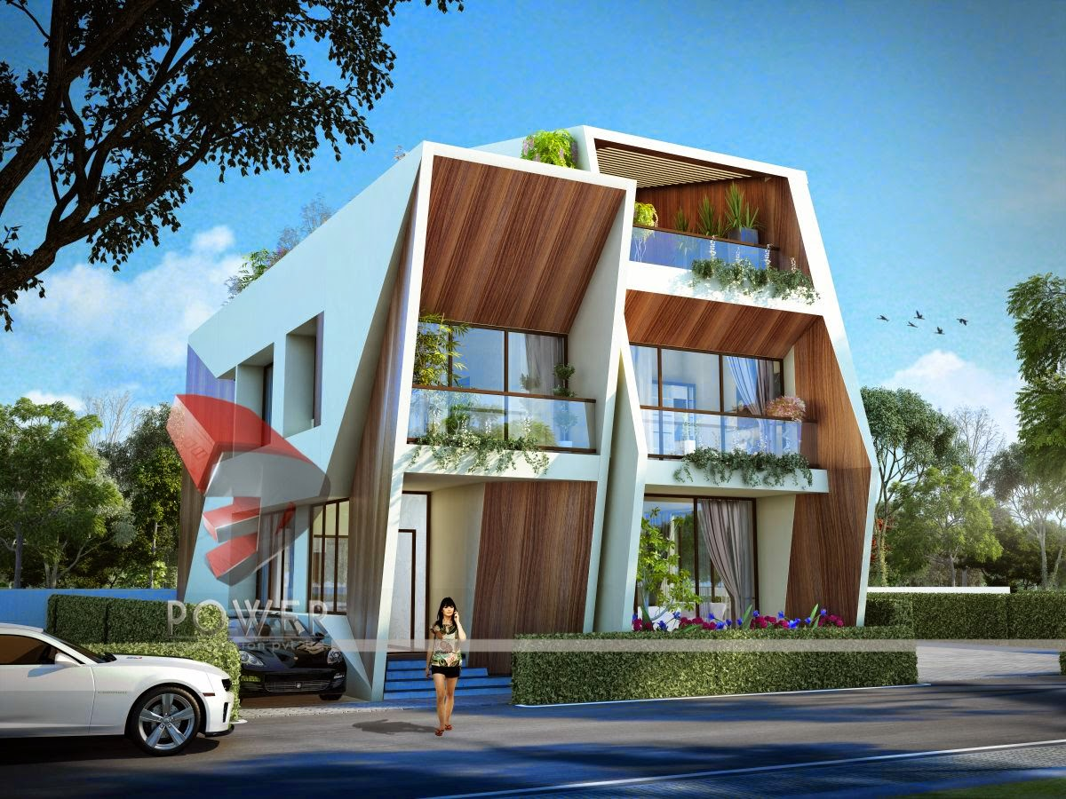Township apartments design 3d rendering for 3d elevation of bungalow