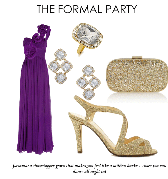 what to wear to a formal party, formal dress, gown, purple dress, kate spade