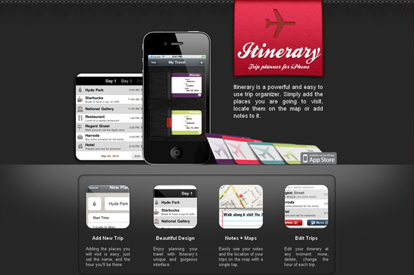 Itenary-App: iphone application website