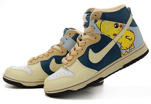 Pikachu Nike Shoes for Sale http://animated-shoes.blogspot.com/2011/10/pikachu-nikes-high-tops-pokemon-shoes.html
