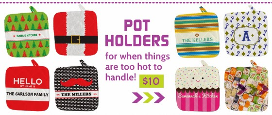 Shop All Personalized Pot Holders