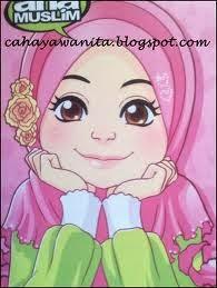 gambar kartun remaja muslimah