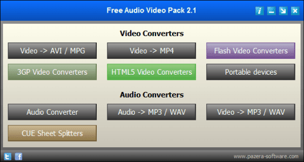 برنامج Free Audio Video Pack