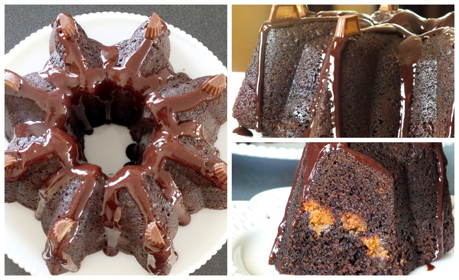 ... Left Are The Crumbs: Reese's Peanut Butter Cup Bundt Cake #BundtaMonth