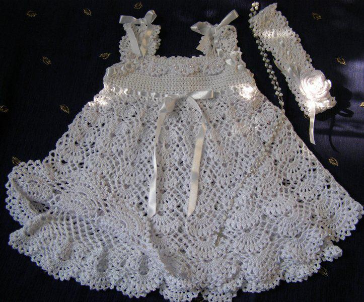 Vestido De Bebe Al Crochet