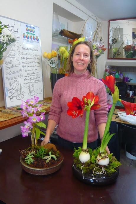 Curso de Arte Floral Sede - SP , aluna Renata.